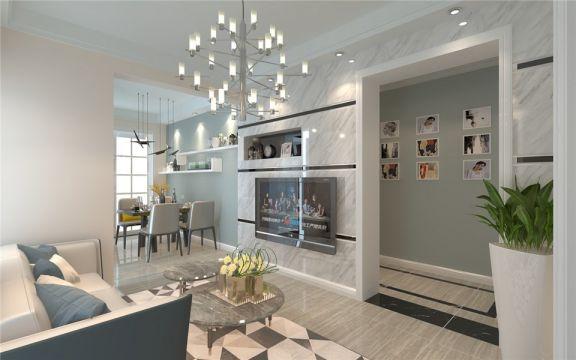 天使苑小区旧房改造两居室现代风格装修效果图