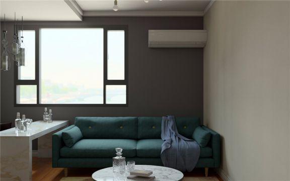 北欧风格65平米两室两厅新房装修效果图