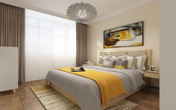 卧室灯具现代简约风格装修图片