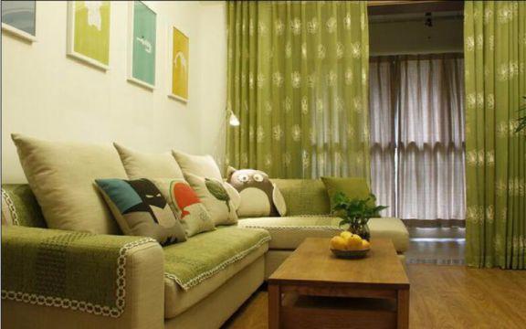融信白宫两室两厅85平日式风格装修效果图