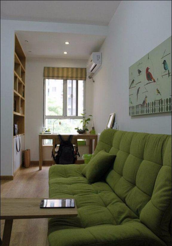 书房细节日式风格装饰效果图