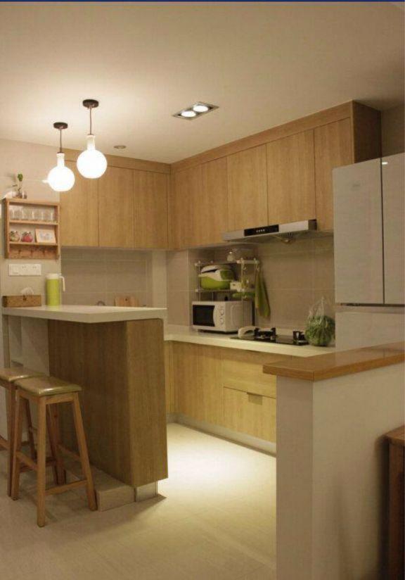厨房橱柜日式风格装潢效果图