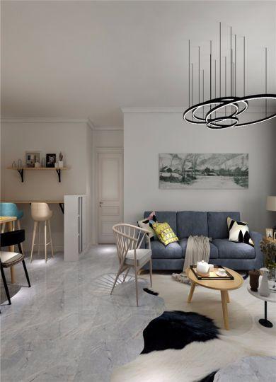 起居室沙发北欧风格装修图片