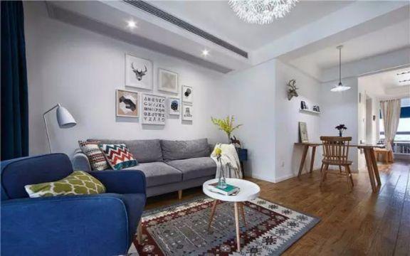 时代名城两室两厅89平日式风格装修效果图