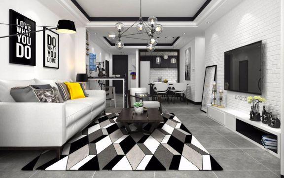 客厅地砖简约风格装饰图片