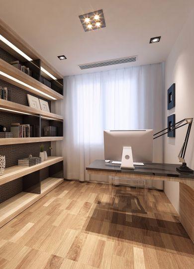 书房书架简约风格装潢设计图片