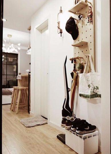 衣帽间鞋柜北欧风格装潢图片