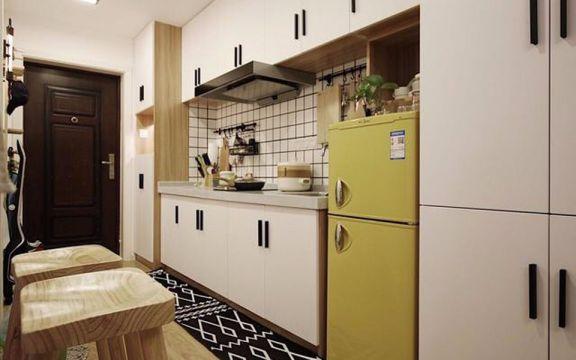 厨房厨房岛台北欧风格装潢设计图片