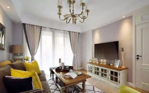 美式风格89平米小两室新房装修效果图