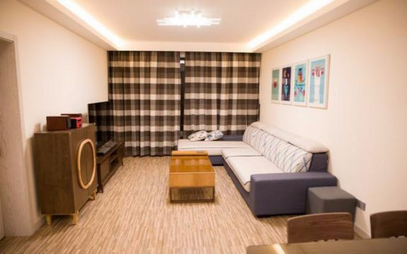 九彩华庭两室两厅95平日式风格装修效果图