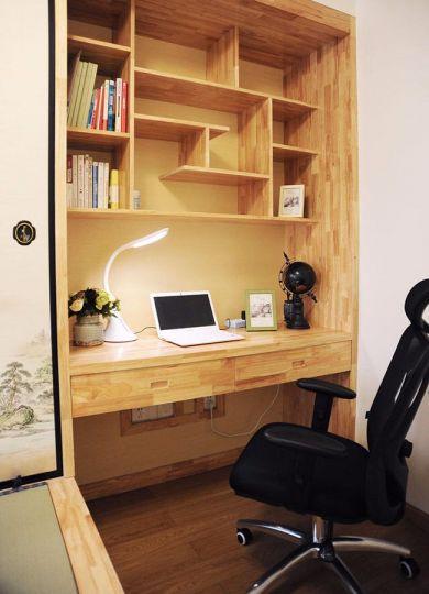 书房书桌简约风格装潢图片