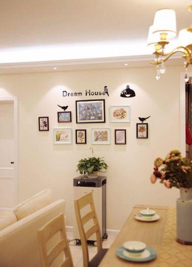 餐厅照片墙简约风格装饰设计图片