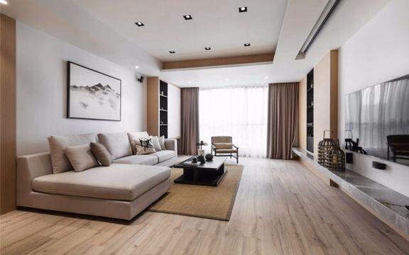 客厅灰色沙发简约风格装潢效果图