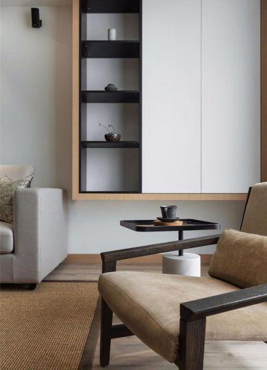 客厅白色细节简约风格装修图片