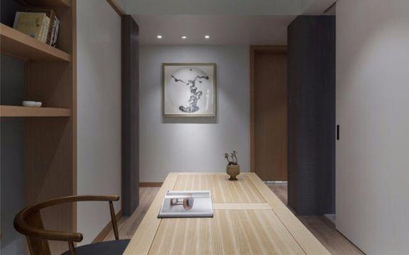 书房黄色书桌简约风格装饰设计图片