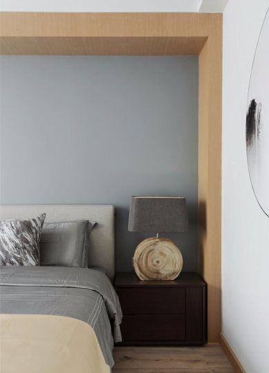 卧室咖啡色床头柜简约风格效果图