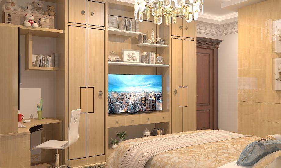 卧室黄色灯具欧式风格装饰图片