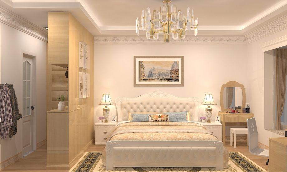 15平欧式风格卧室装修效果图