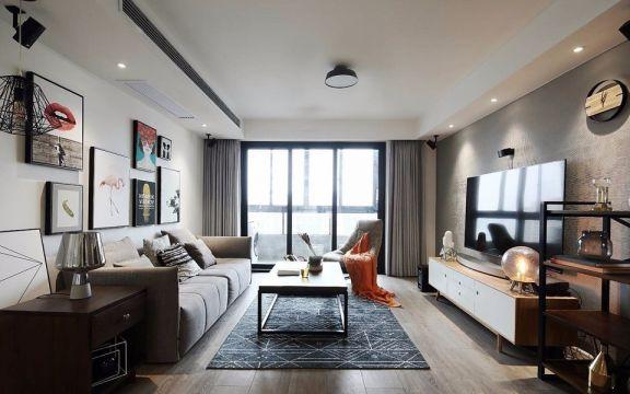现代简约风格68平米一居室新房装修效果图