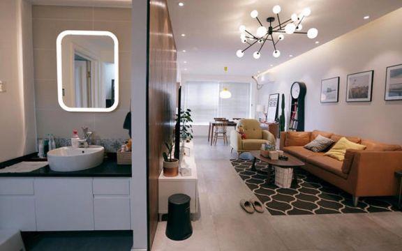 长春路50平北欧风格一居室装修效果图