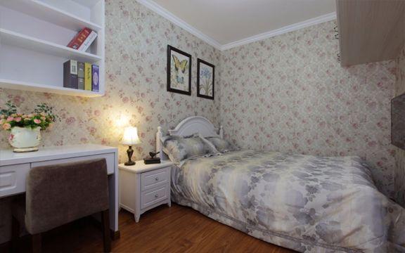 卧室黄色照片墙美式风格装潢图片