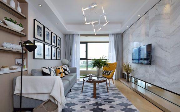简欧风格85平米三室两厅新房装修效果图