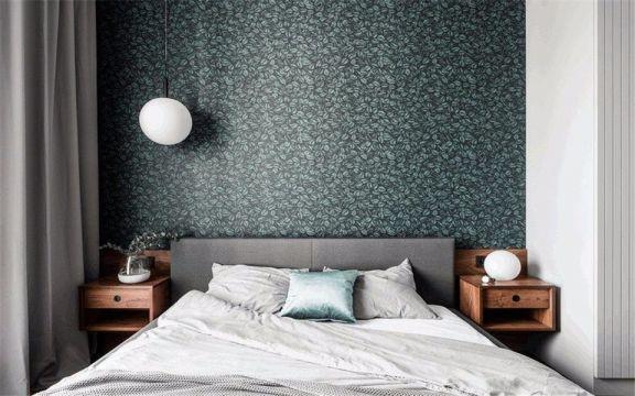 卧室灰色床现代风格装饰图片