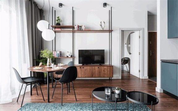 现代风格62平米三室两厅新房装修效果图
