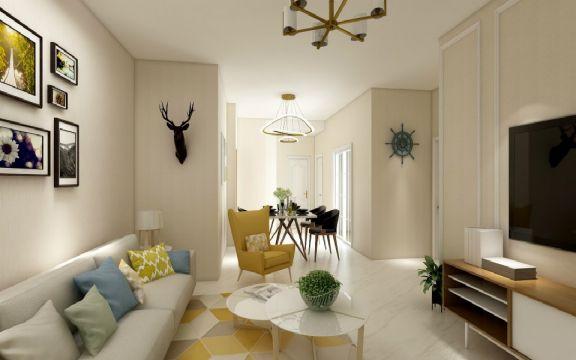 现代简约风格111平米套房新房装修效果图