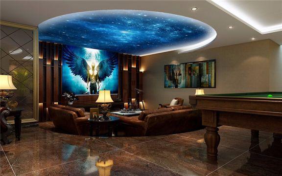 地下室吊顶欧式风格装饰效果图