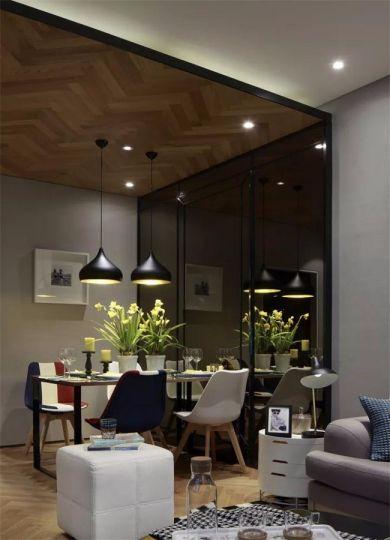 现代简约风格87平米三室两厅新房装修效果图