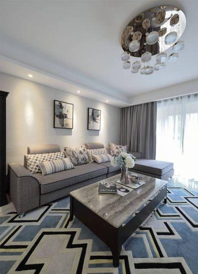 120平米现代简约风格家居装修效果图