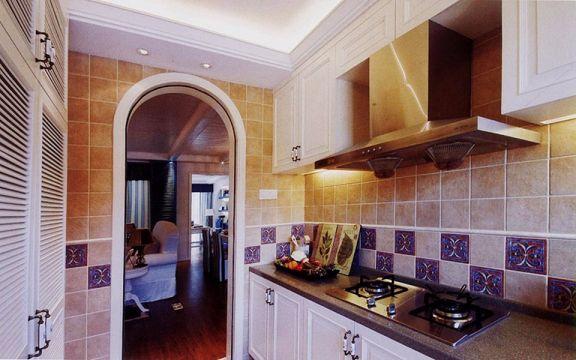 欧式风格厨房橱柜装潢设计图片
