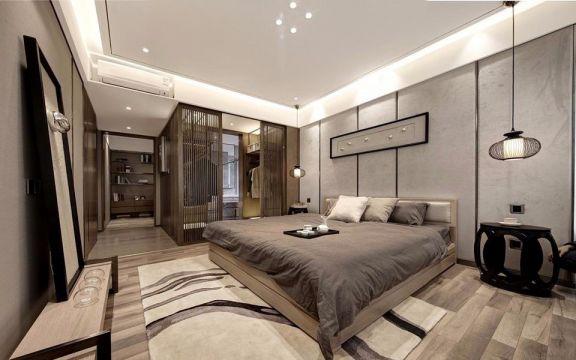 复兴西苑中式风格99平方三居室装修效果图