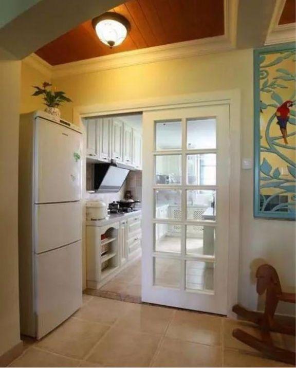 厨房走廊田园风格装修设计图片