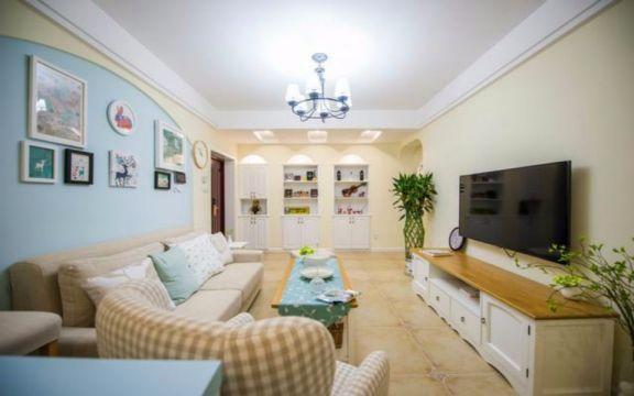 田园风格108平米两室两厅新房装修效果图