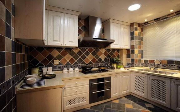 厨房地中海风格装潢设计图片