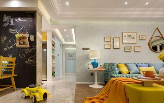 客厅走廊简约风格装潢设计图片