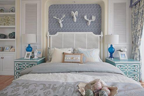 卧室床地中海风格装修设计图片