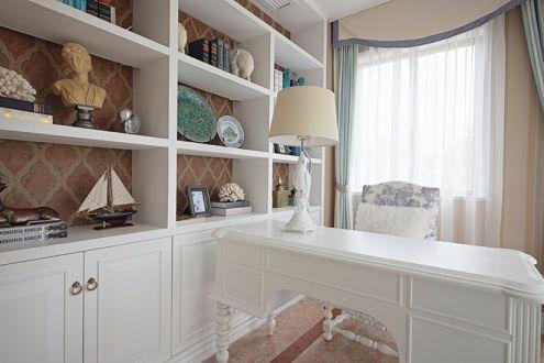 书房书桌地中海风格装饰设计图片