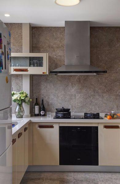厨房背景墙现代简约风格效果图