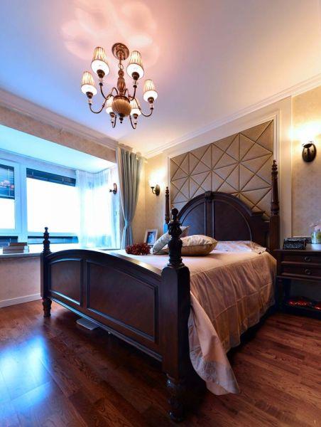 卧室床简欧风格效果图
