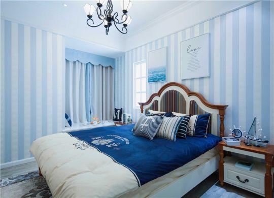 卧室床头柜地中海风格装潢效果图