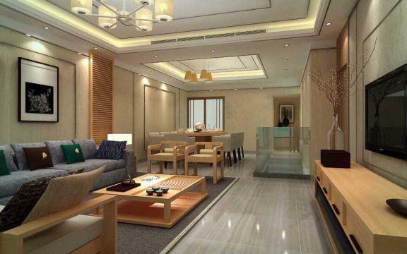 新中式风格350平米别墅新房装修效果图