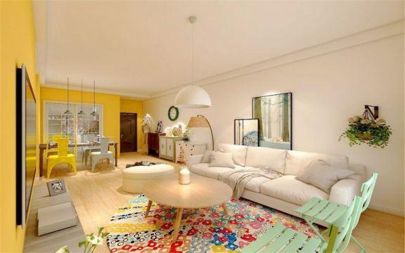 易盛家园58平现代风格两室两厅一卫装修效果图