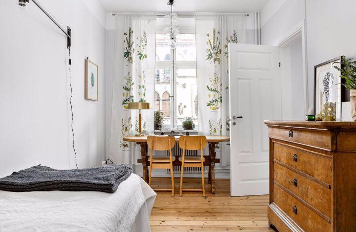 卧室地板砖北欧风格装潢图片