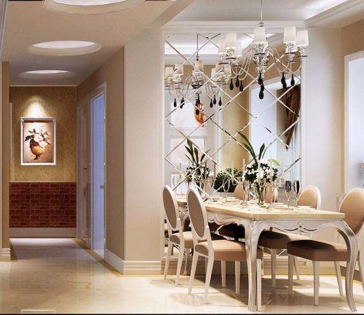 餐厅背景墙简欧风格装饰效果图