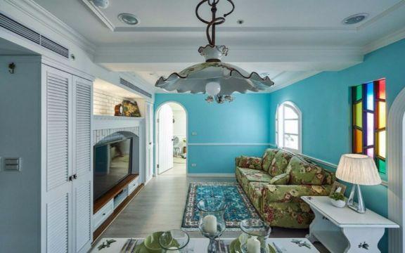 客厅照片墙田园风格装修设计图片
