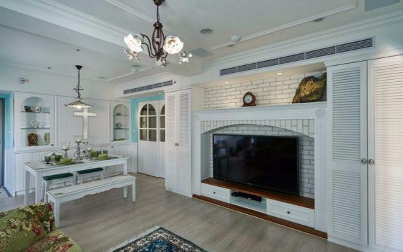 客厅电视柜田园风格装饰设计图片