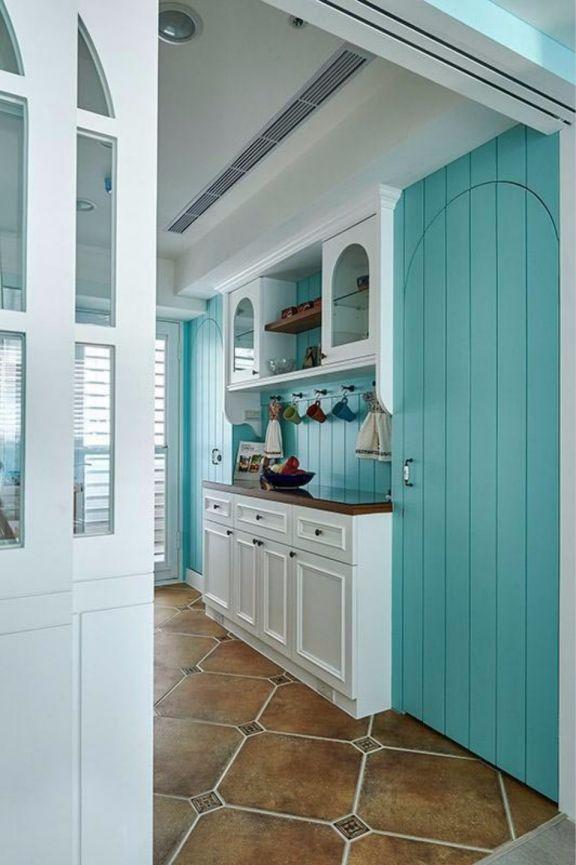 厨房走廊田园风格装潢设计图片
